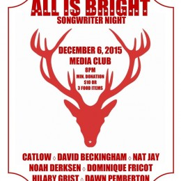 12.01.2015 / All is Bright: Songwriter Night